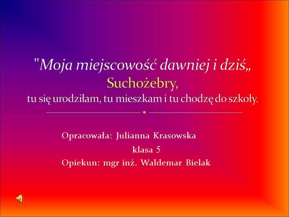 Opracowała: Julianna Krasowska klasa 5 Opiekun: mgr inż. Waldemar Bielak