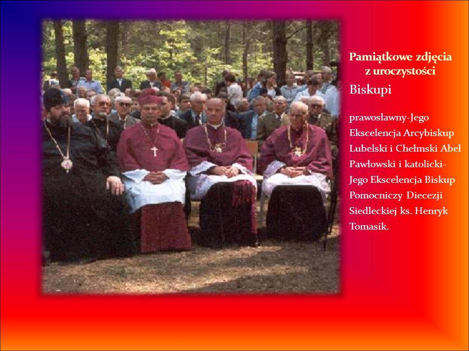 Biskupi prawosławny-Jego Ekscelencja Arcybiskup Lubelski i Chełmski Abel Pawłowski i katolicki- Jego Ekscelencja Biskup Pomocniczy Diecezji Siedleckie