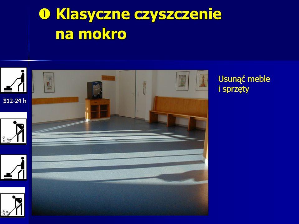 Klasyczne czyszczenie na mokro Klasyczne czyszczenie na mokro 12-24 h Usunąć meble i sprzęty
