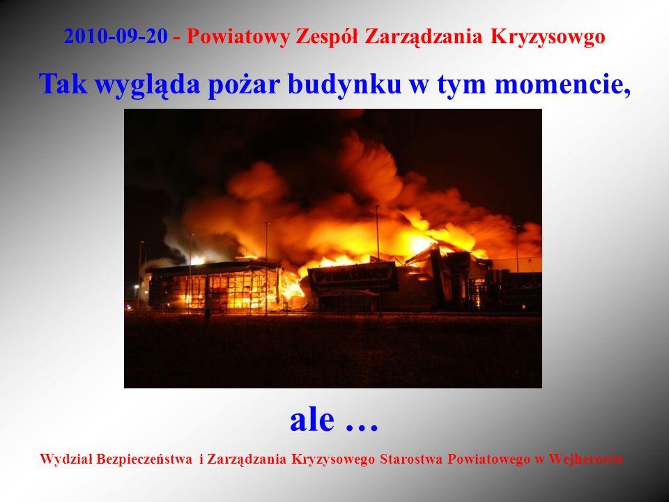 2010-09-20 - Powiatowy Zespół Zarządzania Kryzysowgo Wydział Bezpieczeństwa i Zarządzania Kryzysowego Starostwa Powiatowego w Wejherowie Tak wygląda p