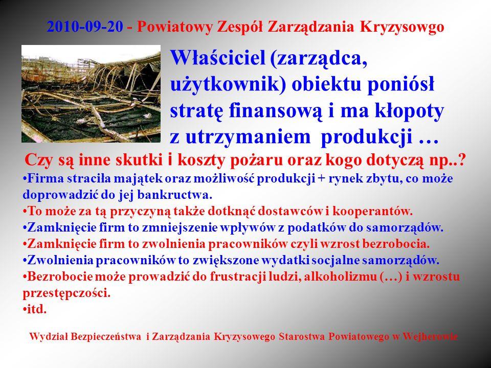 2010-09-20 - Powiatowy Zespół Zarządzania Kryzysowgo Wydział Bezpieczeństwa i Zarządzania Kryzysowego Starostwa Powiatowego w Wejherowie Właściciel (z
