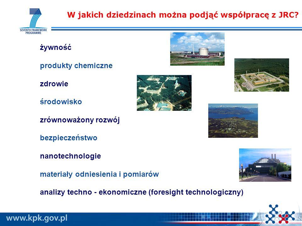W jakich dziedzinach można podjąć współpracę z JRC.