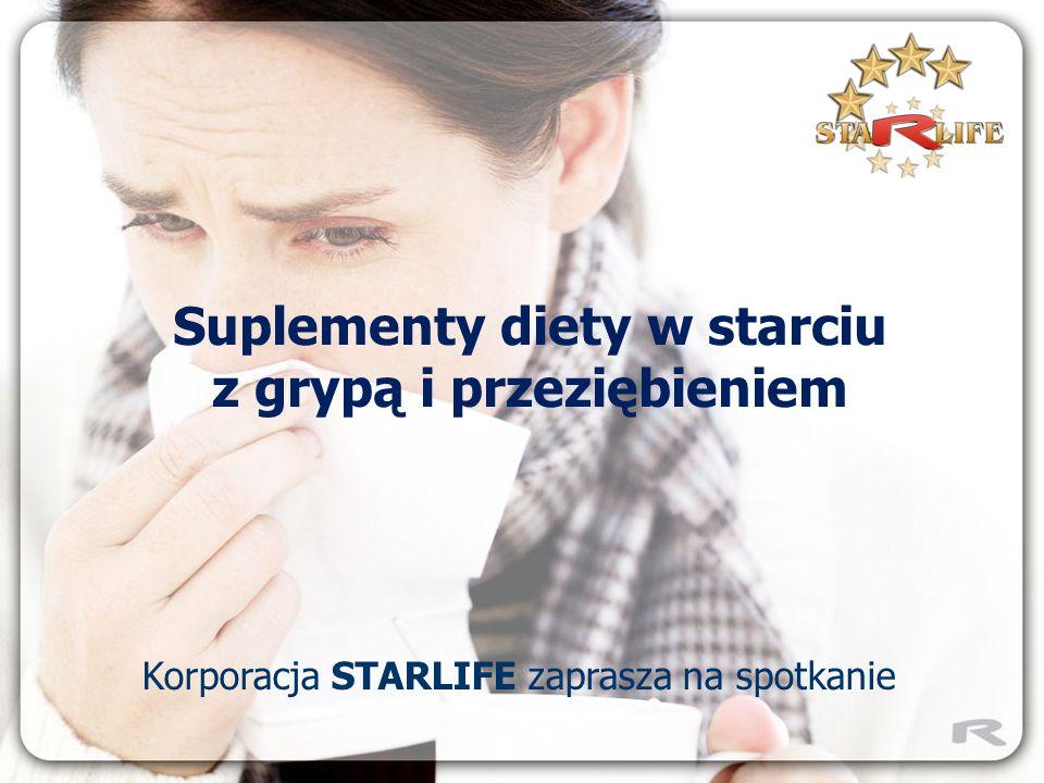 BEZ PANIKI – ŚWIŃSKA GRYPA TO TYLKO GRYPA Korporacja STARLIFE zaprasza na spotkanie Suplementy diety w starciu z grypą i przeziębieniem