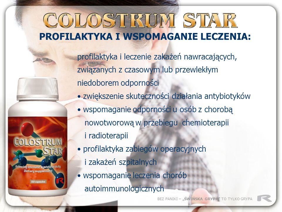 BEZ PANIKI – ŚWIŃSKA GRYPA TO TYLKO GRYPA profilaktyka i leczenie zakażeń nawracających, związanych z czasowym lub przewlekłym niedoborem odporności z