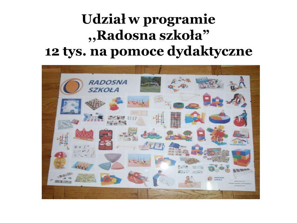 Udział w programie,,Radosna szkoła 12 tys. na pomoce dydaktyczne