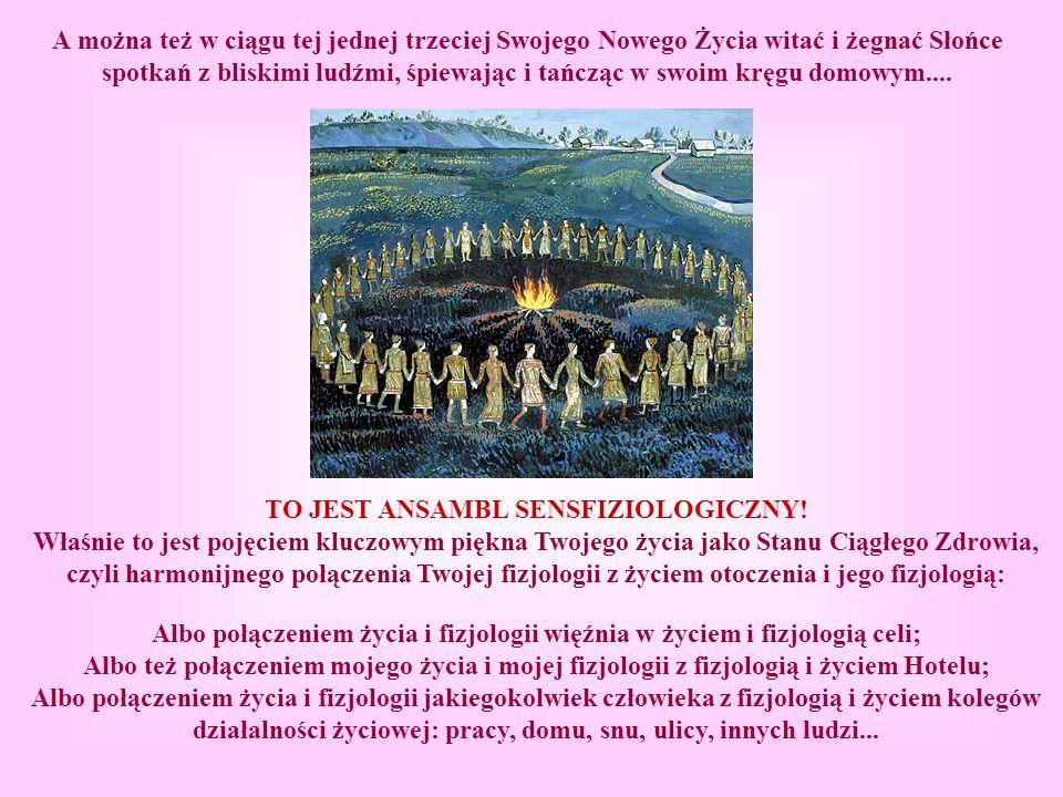 А można też w ciągu tej jednej trzeciej Swojego Nowego Życia witać i żegnać Słońce spotkań z bliskimi ludźmi, śpiewając i tańcząc w swoim kręgu domowy