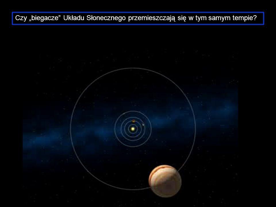 Czy biegacze Układu Słonecznego przemieszczają się w tym samym tempie?