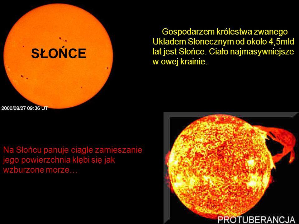 Gospodarzem królestwa zwanego Układem Słonecznym od około 4,5mld lat jest Słońce. Ciało najmasywniejsze w owej krainie. Na Słońcu panuje ciągle zamies
