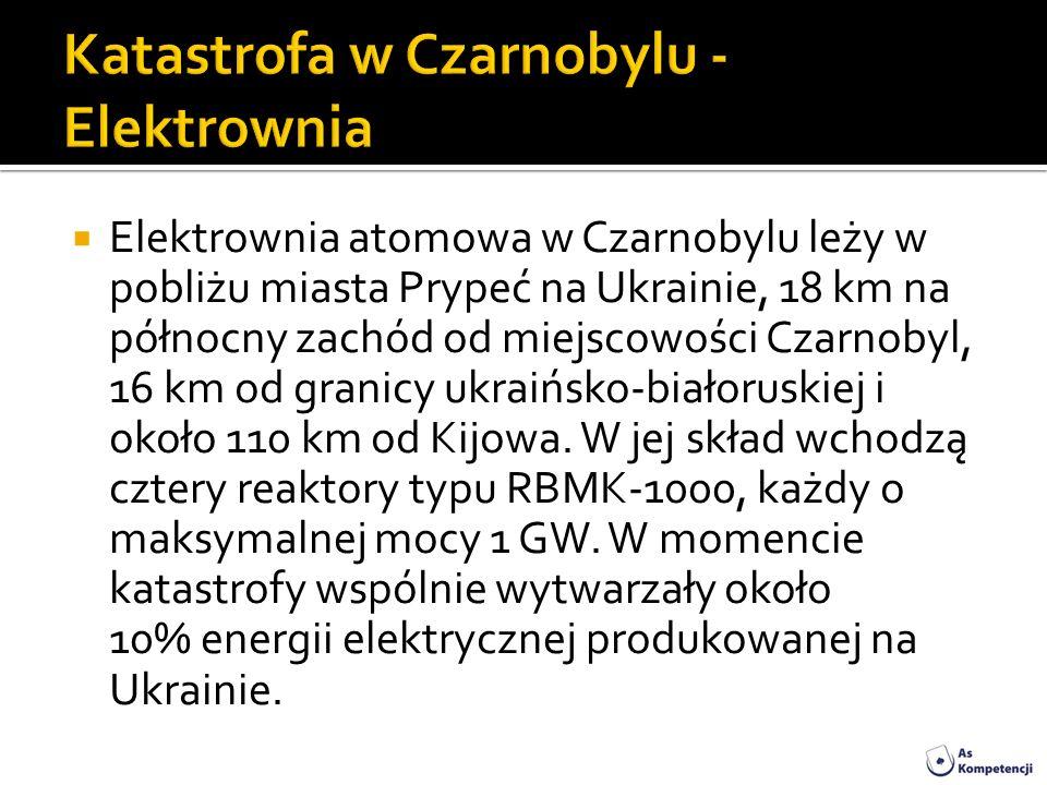 Elektrownia atomowa w Czarnobylu leży w pobliżu miasta Prypeć na Ukrainie, 18 km na północny zachód od miejscowości Czarnobyl, 16 km od granicy ukraiń