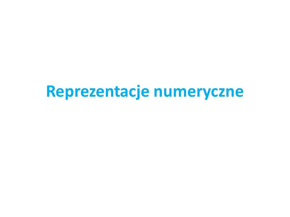 Reprezentacje numeryczne