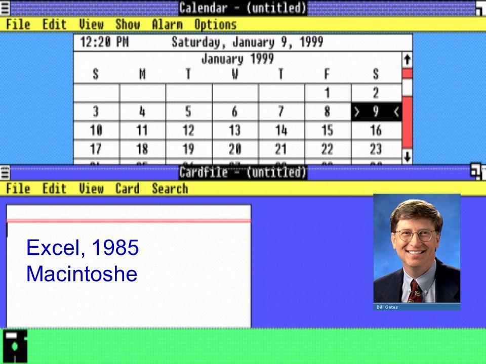 Excel, 1985 Macintoshe