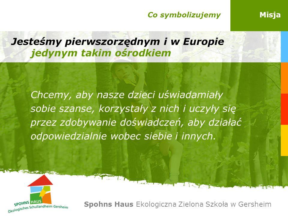 Co symbolizujemyMisja Jesteśmy pierwszorzędnym i w Europie jedynym takim ośrodkiem Chcemy, aby nasze dzieci uświadamiały sobie szanse, korzystały z ni