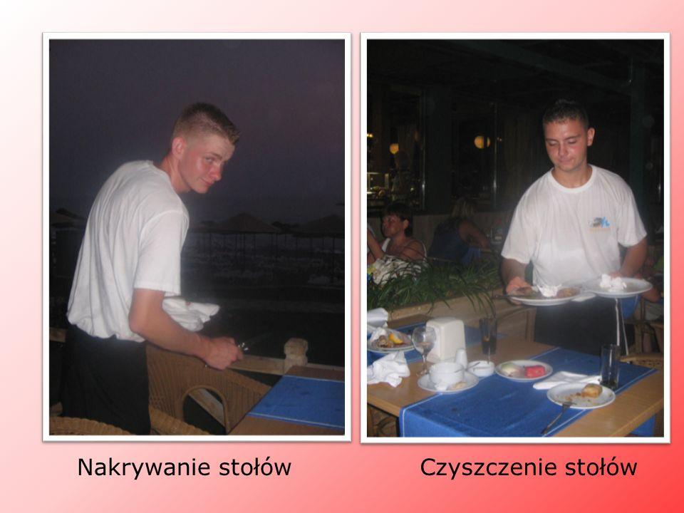 Nakrywanie stołówCzyszczenie stołów