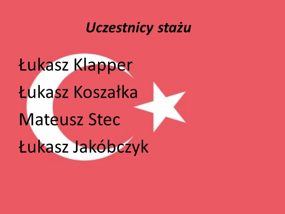 Uczestnicy stażu Łukasz Klapper Łukasz Koszałka Mateusz Stec Łukasz Jakóbczyk
