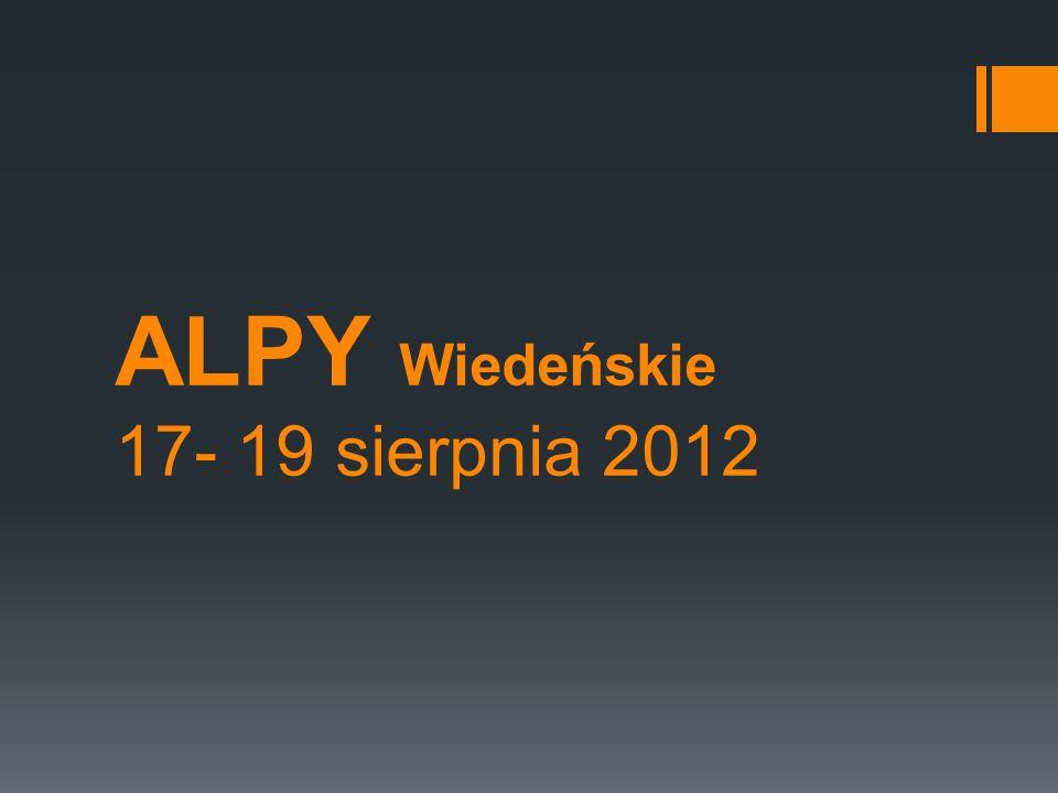 ALPY Wiedeńskie 17- 19 sierpnia 2012