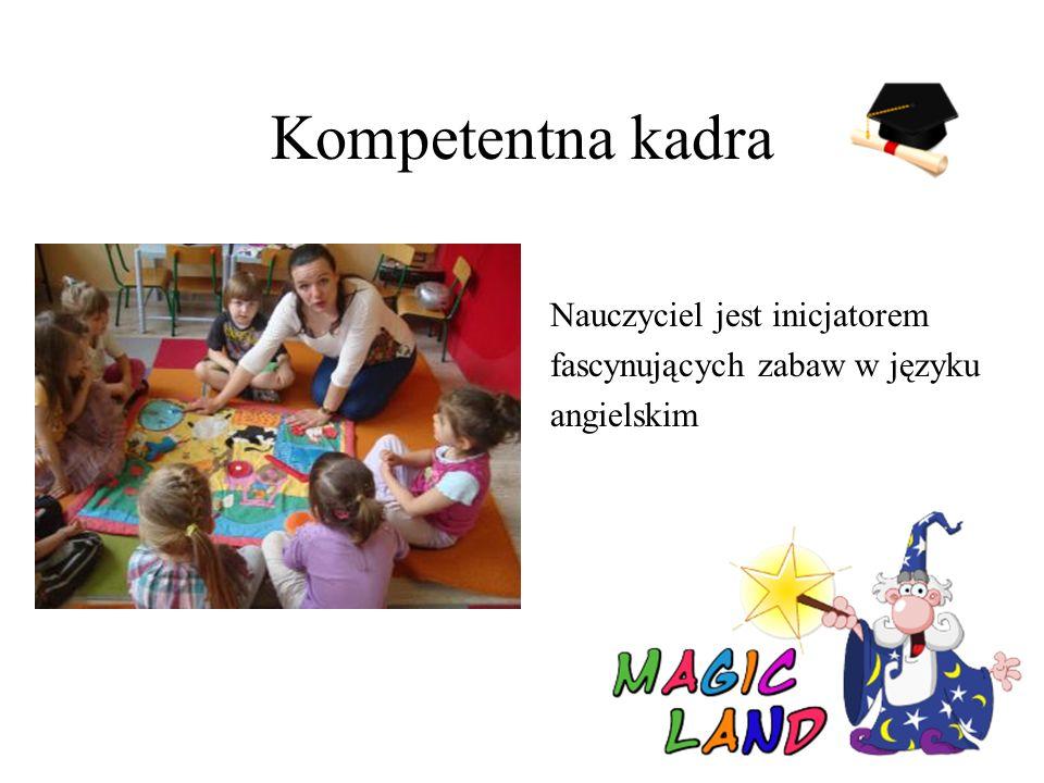 Kompetentna kadra Nauczyciel jest inicjatorem fascynujących zabaw w języku angielskim