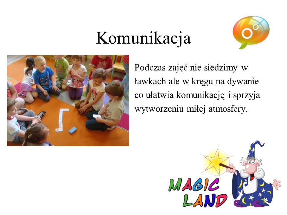 Pomoce dydaktyczne Na zajęciach wykorzystujemy nowoczesne pomoce dydaktyczne, gry językowe, zabawy, piosenki, historyjki i wiele innych ciekawych pomysłów, które sprzyjają efektywnej nauce języka..