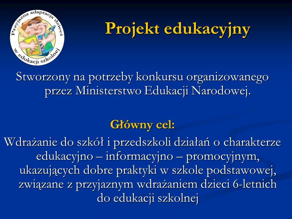 Projekt edukacyjny Stworzony na potrzeby konkursu organizowanego przez Ministerstwo Edukacji Narodowej.