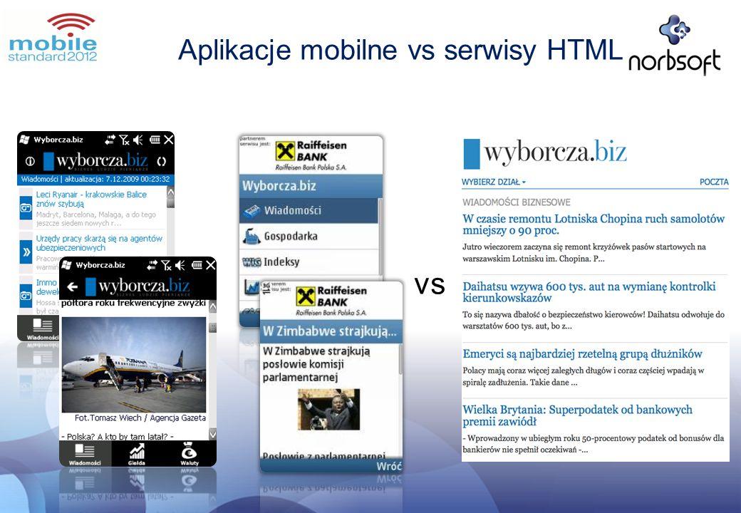 Aplikacje mobilne vs serwisy HTML