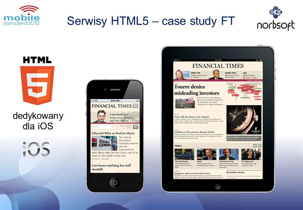 Serwisy HTML5 – case study FT dedykowany dla iOS