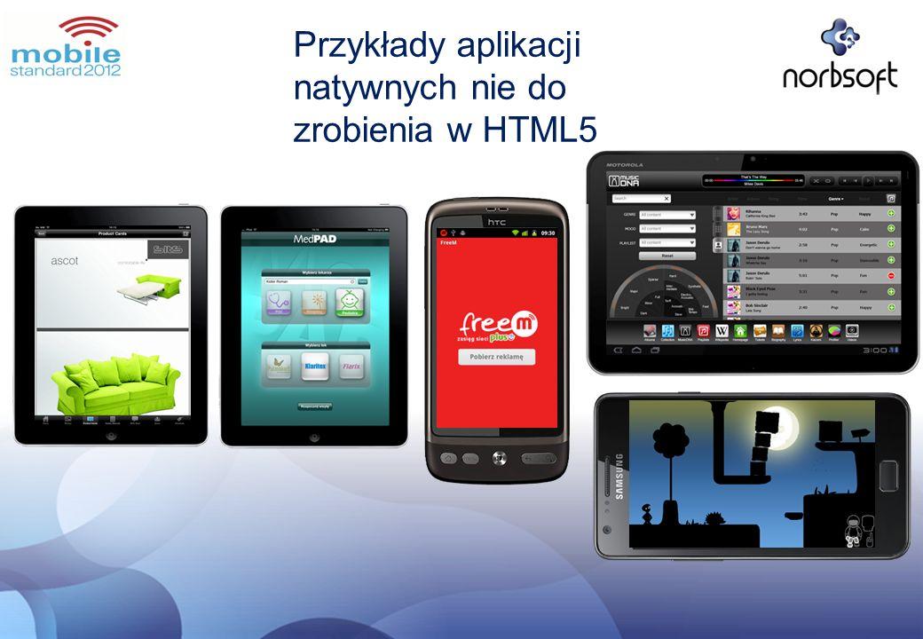 Przykłady aplikacji natywnych nie do zrobienia w HTML5