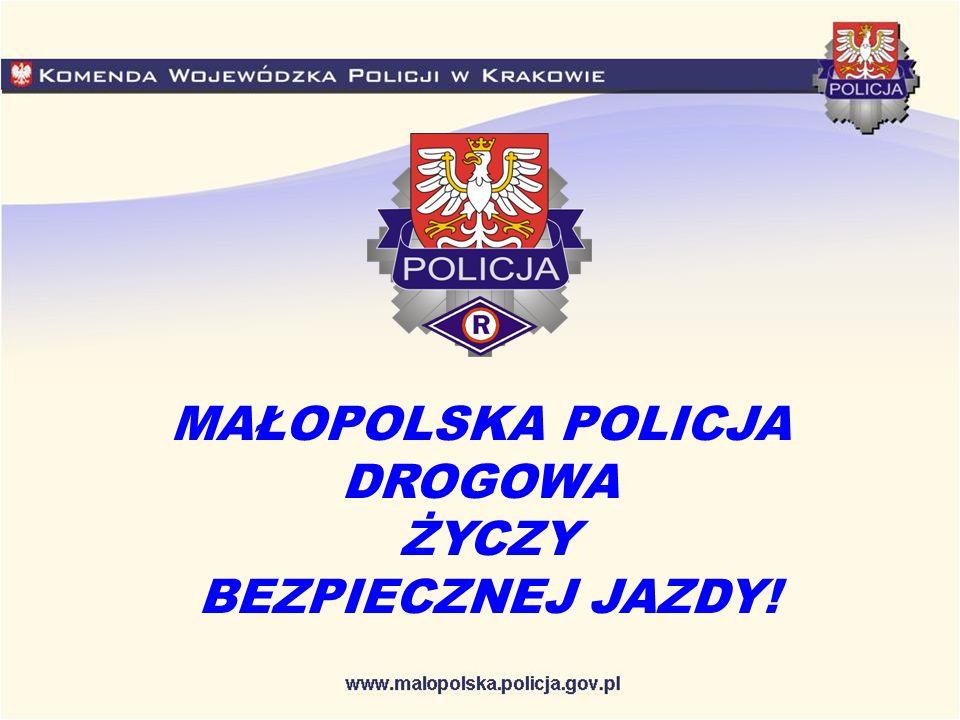 MAŁOPOLSKA POLICJA DROGOWA ŻYCZY BEZPIECZNEJ JAZDY!