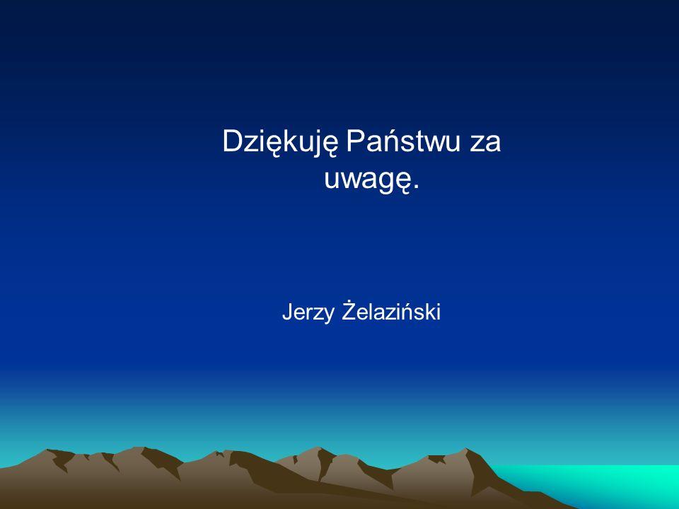 Dziękuję Państwu za uwagę. Jerzy Żelaziński