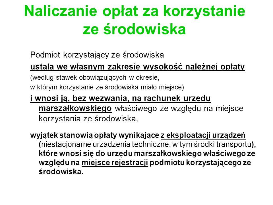 Sankcje za niezrealizowanie obowiązku rozliczania się z opłat Kara grzywny: 1.