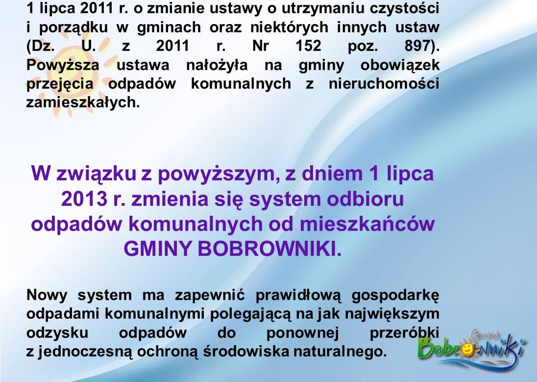 Z dniem 1 stycznia 2012 r. weszła w życie ustawa z dnia 1 lipca 2011 r.