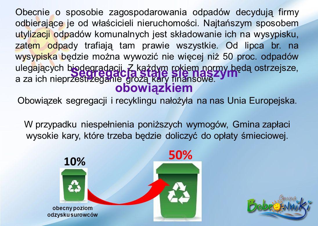 Obecnie o sposobie zagospodarowania odpadów decydują firmy odbierające je od właścicieli nieruchomości.