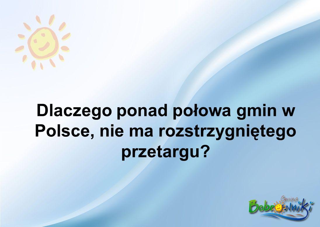Dlaczego ponad połowa gmin w Polsce, nie ma rozstrzygniętego przetargu
