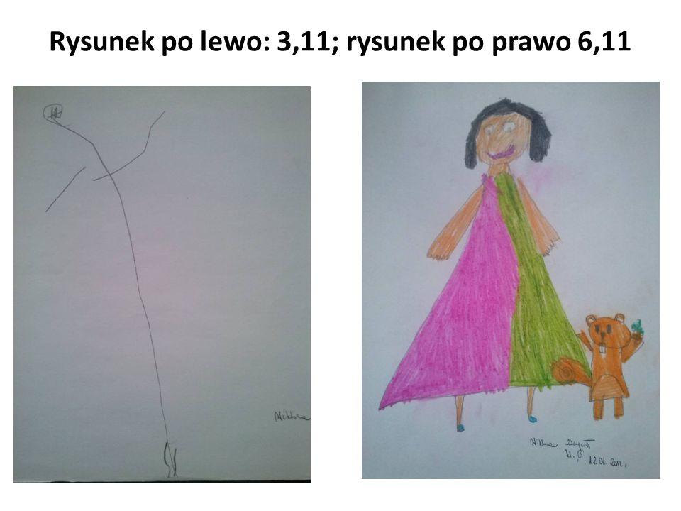 Rysunek po lewo: 3,11; rysunek po prawo 6,11