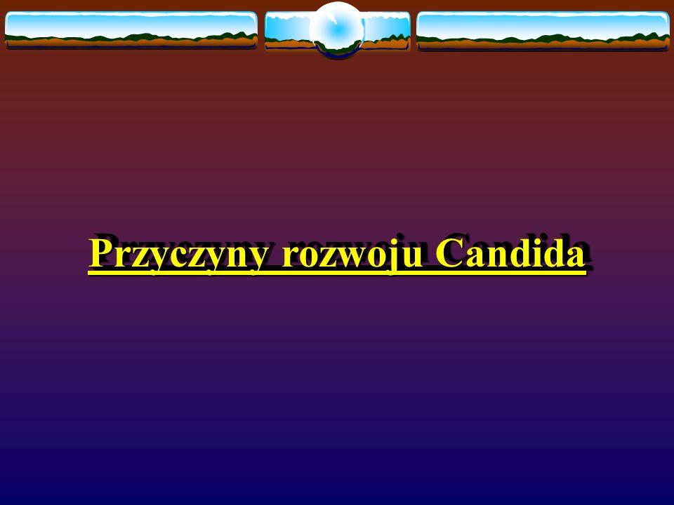 Przyczyny rozwoju Candida