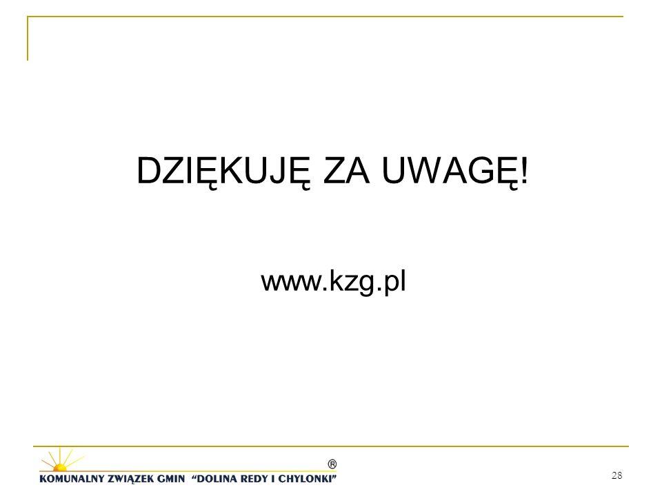 28 DZIĘKUJĘ ZA UWAGĘ! www.kzg.pl