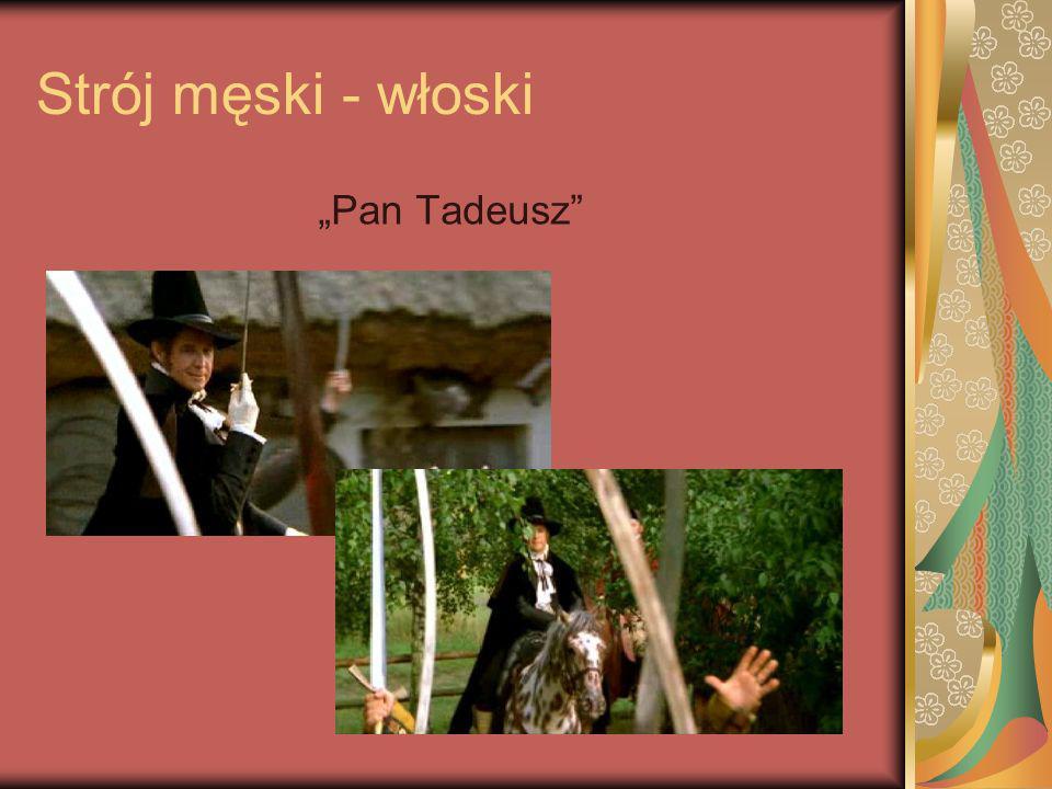 Strój męski - włoski Pan Tadeusz
