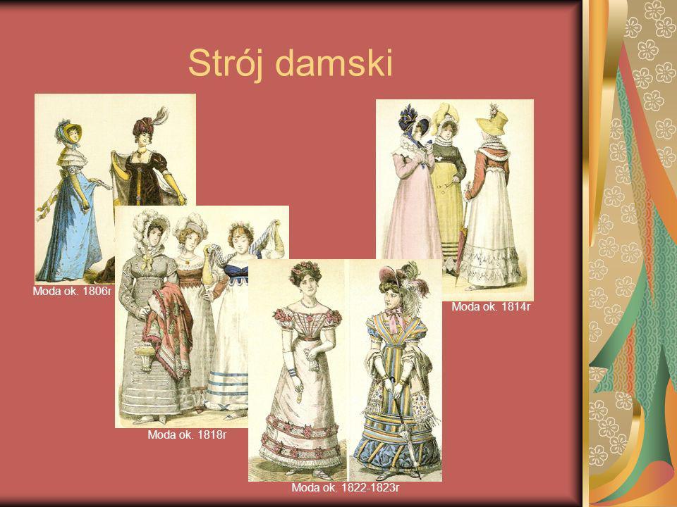 Strój damski Moda ok. 1806r Moda ok. 1818r Moda ok. 1822-1823r Moda ok. 1814r