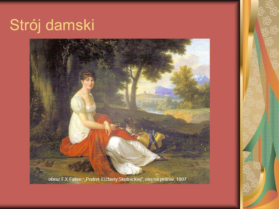obraz F.X.Fabre, Portret Elżbiety Skotnickiej, olej na płótnie, 1807