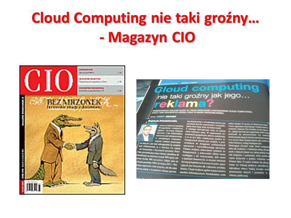 Cloud Computing nie taki groźny… - Magazyn CIO