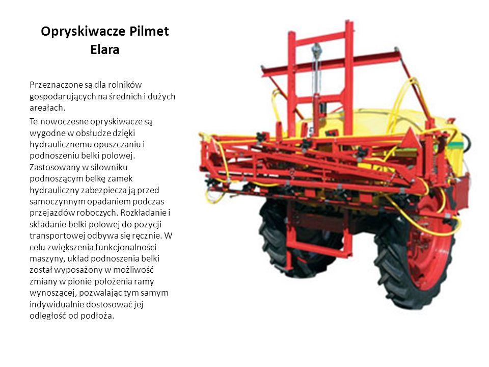 Opryskiwacze Pilmet Elara Przeznaczone są dla rolników gospodarujących na średnich i dużych areałach. Te nowoczesne opryskiwacze są wygodne w obsłudze