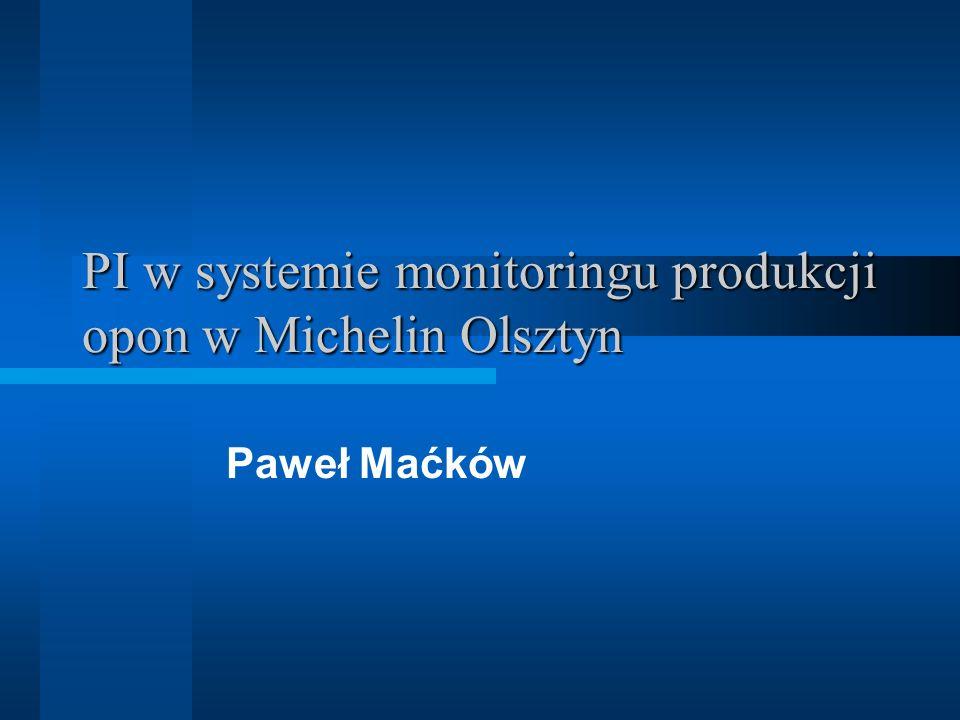 PI w systemie monitoringu produkcji opon w Michelin Olsztyn Paweł Maćków