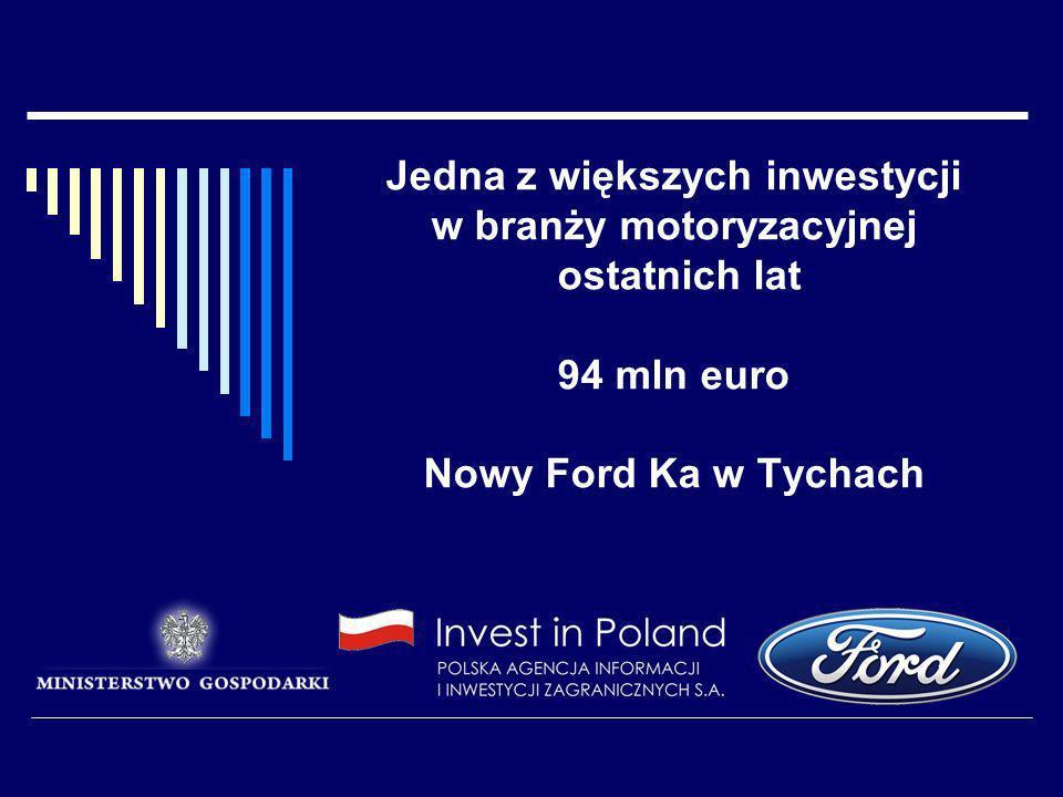 Jedna z większych inwestycji w branży motoryzacyjnej ostatnich lat 94 mln euro Nowy Ford Ka w Tychach