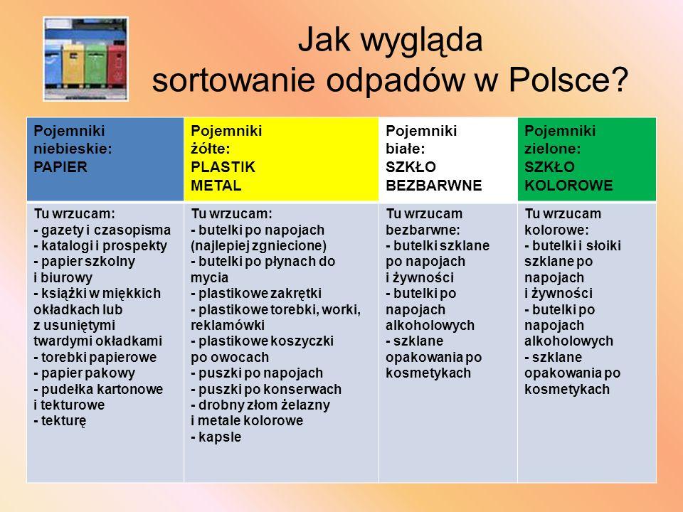 Jak wygląda sortowanie odpadów w Polsce.