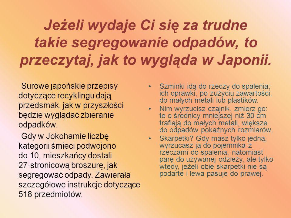 Jak wygląda sortowanie odpadów w Polsce? Pojemniki niebieskie: PAPIER Pojemniki żółte: PLASTIK METAL Pojemniki białe: SZKŁO BEZBARWNE Pojemniki zielon