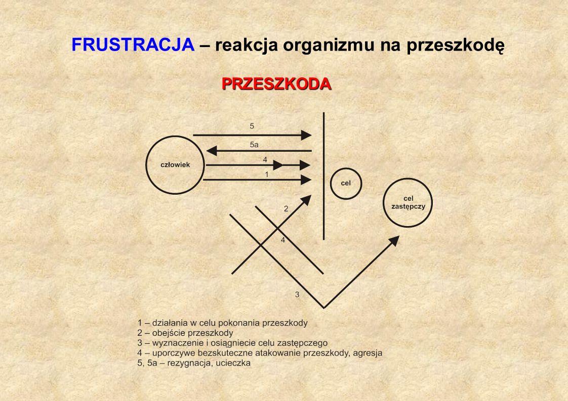 FRUSTRACJA – reakcja organizmu na przeszkodę PRZESZKODA