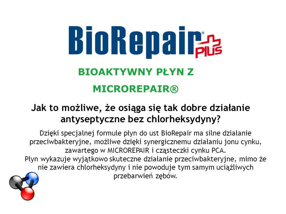 Jak to możliwe, że osiąga się tak dobre działanie antyseptyczne bez chlorheksydyny? Dzięki specjalnej formule płyn do ust BioRepair ma silne działanie