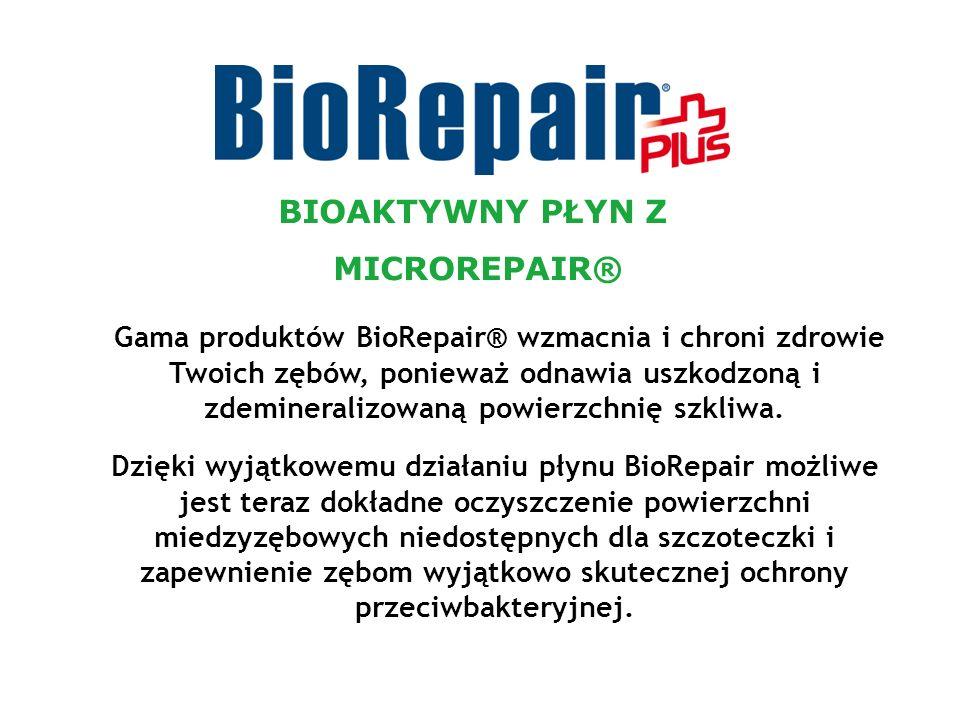 Gama produktów BioRepair® wzmacnia i chroni zdrowie Twoich zębów, ponieważ odnawia uszkodzoną i zdemineralizowaną powierzchnię szkliwa. Dzięki wyjątko
