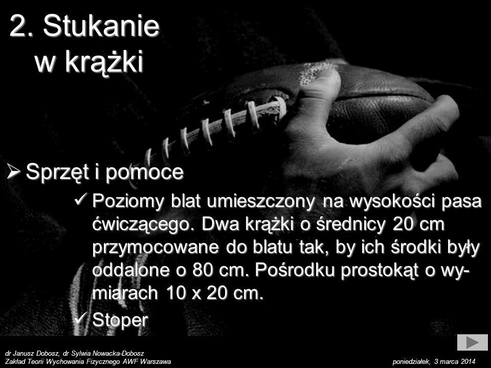 dr Janusz Dobosz, dr Sylwia Nowacka-Dobosz Zakład Teorii Wychowania Fizycznego AWF Warszawa poniedziałek, 3 marca 2014 2.