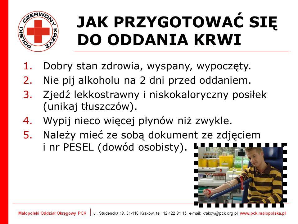 Małopolski Oddział Okręgowy PCK ul. Studencka 19, 31-116 Kraków, tel. 12 422 91 15, e-mail: krakow@pck.org pl www.pck.malopolska.pl JAK PRZYGOTOWAĆ SI