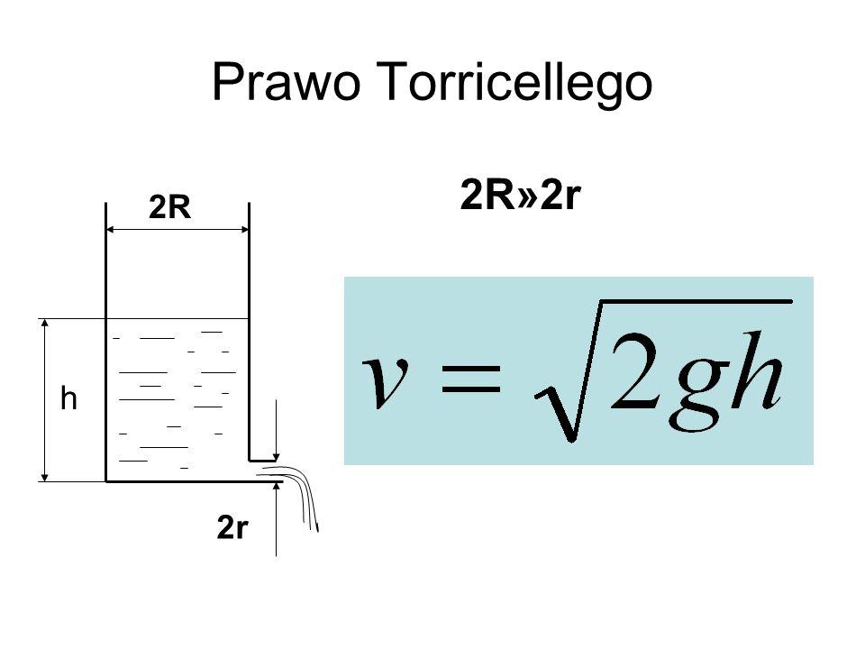 Prawo Torricellego 2R 2r 2R»2r h