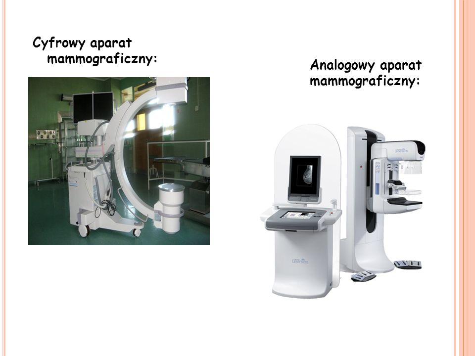 Cyfrowy aparat mammograficzny: Analogowy aparat mammograficzny:
